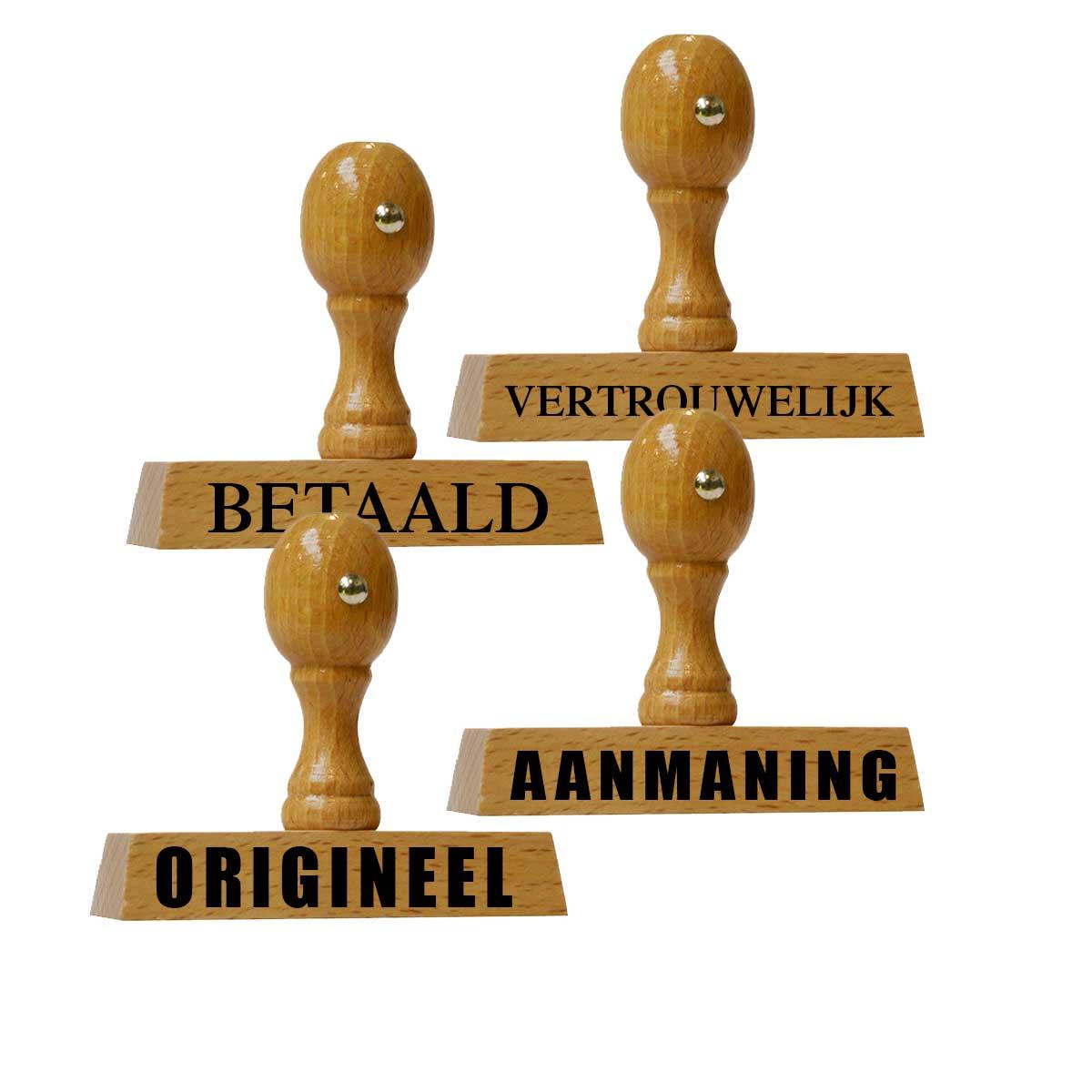 Stempels met vaste teksten - Stempels met standaard tekst |  Kantoorstempels.nl